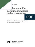 Kant - Fundamentacion para una Metafisica de las Costumbres - Trad. Rodríguez Aramayo.pdf