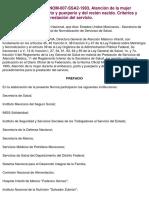 Norma Oficial Mexicana NOM-007-SSA2-1993, Atención de la mujer.pdf