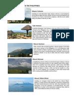 Active Volcanoes in the Philippines
