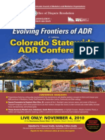 Colorado Statewide ADR Conference (4th Annual)