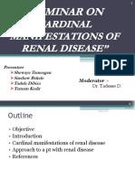 Cardinal Manifestetions of Renal Disease