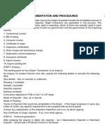 Export Documentation and Procedures