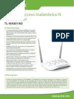 Tl-wa801nd v2 Datasheet Es