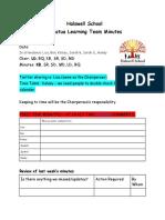 otumatua meeting template