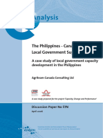 DP 57N Case Study Local Government Capacity Development Philippines