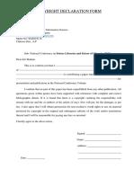 Copyright Declaration Form