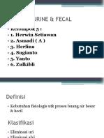 Eliminasi Urine Dan Fecal