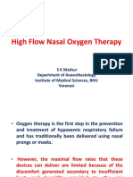 Dr. Sk Mathur High Flow Nasal Oxygen Therapy.ppt