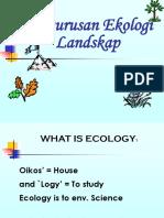 2. Lecture_Landscape Ecology Management