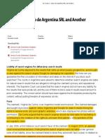 Da Cunha v. Yahoo de Argentina SRL and Another - Argentina Case Law
