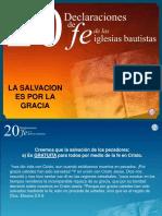 20 DECLARACIONES DE FE.La salvación