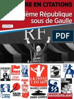 citations_DeGaulle et 5e république