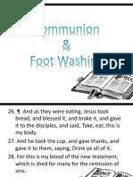 Communion and Footwashing