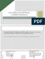 6. Anomalous Retinal Corespondence
