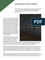 Market Your Led Lighting Business Through Multiple Methods