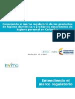 Conocimiento Marco Regulatorio Higiene Domestica en Colombia