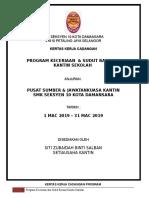 Kertas Kerja Keceriaan Kantin  SMK SEKSYEN 10 KOTA DAMANSARA 2019