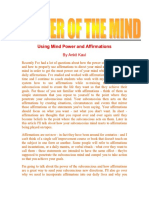 Using Mind Power and Affirmations 6 Pages