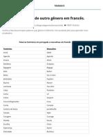 Lista Das Palavras de Outro Gênero Em Francês