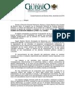 Invitación Premio Gubbio Sección América Latina y Caribe 2019