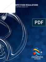 Afc Champions League 2019 Competition Regulations