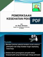Pemeriksaan Kesehatan Kerja.ppt