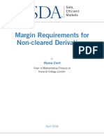 Margin requirement for non cleared derivative