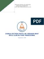 Charla Del Dr Bhat