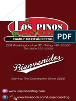 Los Pinos Restaurant Full Menu