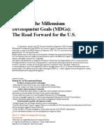 Achieving the Millennium Development Goals (MDGs)