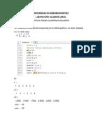 Laboratorio 1#Algebra Lineal Yerson Albarracin
