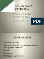 PRESENTACIÓN DE LAS GENERALIDADES DEL ESPAÑOL