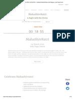 MahaShivRatri 2019 _ 4th Mar 2019 – Cel..