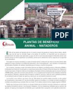 Plantas de Beneficio Animal-mataderos