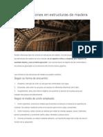 Tipos de Uniones en Estructuras de Madera
