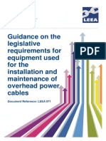 LEEA-071 Gudiance to Legislative Requirments for Equipment Used for the Installation of Power Cables Version 1 Aug 2017