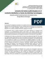 Prácticas de consumo de textos audiovisuales en el contexto doméstico a través de distintas tecnologías