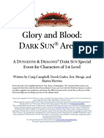 Glory and Blood Dark Sun Arenas