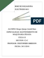 Informe de Soldadura 6011