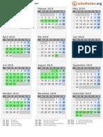 Kalender 2019 Thueringen Hoch