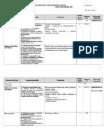 Educatie_antreprenoriala, Planificare Calendaristica