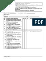 Compressed Gases Checklist
