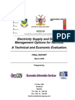 Namibia Electricity Supply Demand Options March 2008 FINAL