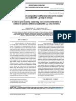 Factores Precosecha, Cosecha y Poscosecha Inherentes Al Cultivo de Jamaica (Hibiscus Sabdariffa L.)
