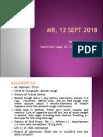Hemoptoe, SOPT, Anemia, Azotemia, CAP, Hemoptoe TB II DM Hematemesis Dr Haryati