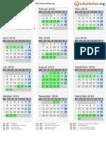 Kalender 2018 Baden Wuerttemberg Hoch