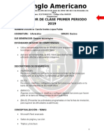 Planeador Informatica 10 Primer Periodo 2019