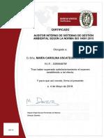 AUDITOR INTERNO DE SISTEMAS DE GESTIÓN AMBIENTAL SEGÚN LA NORMA ISO 14001 - 2015 - MARÍA CAROLINA USCATEGUI DIAGO.pdf