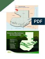 Volcanes y Montañas de Guatemala en Mapa