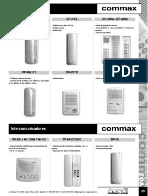 Como instalar un intercomunicador commax